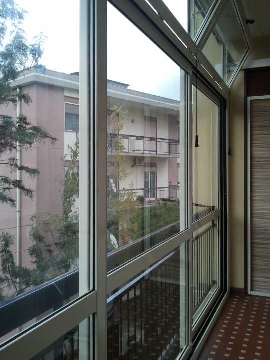 Veranda in alluminio a taglio termico serie EKOS Catania